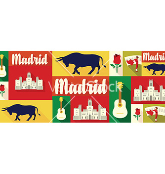 Free travel and tourism icons madrid vector - vector gratuit #212841
