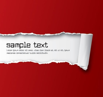 Ripped Paper Red - vector gratuit #212901