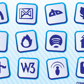 Social Website Vectors - Free vector #212971