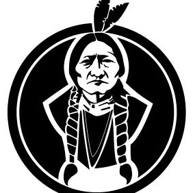 Sitting Bull American Native - vector #213041 gratis