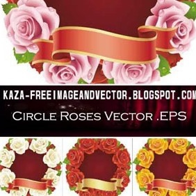 Circle Roses Free Vector - Kostenloses vector #213111