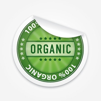 Organic Sticker - vector gratuit #213131