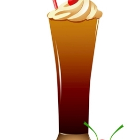 Ice-Cream Glass - Free vector #213281