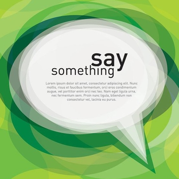 Say Something - vector #213311 gratis