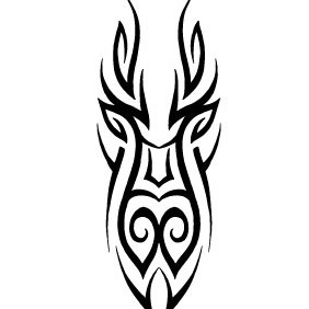 Tribal Face Vector - Free vector #213451