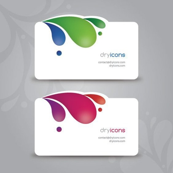 Modern Business Cards - vector gratuit #213481