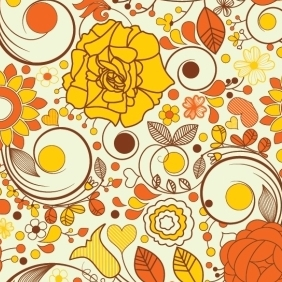 Autumn Floral Background - vector #213501 gratis