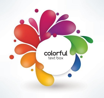 Colorful Text Box - vector #213611 gratis