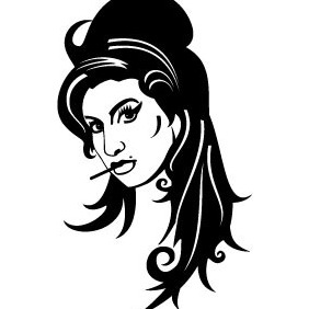 Amy Winehouse Vector Portrait - Free vector #213701