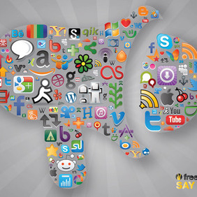 Social Communication - vector #213721 gratis