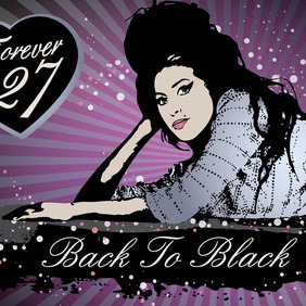 Amy Winehouse Vector Art - Free vector #213861