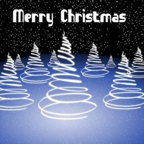 Abstract Merry Christmas Card - Free vector #213881
