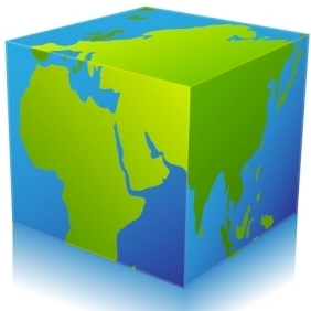 Global Cube - vector gratuit #213891
