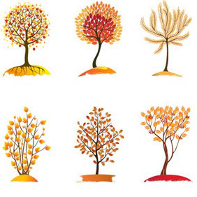 Autumn Trees - Free vector #213941