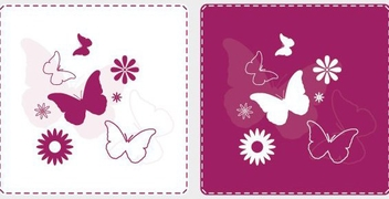 Joyful Butterflies - vector #214031 gratis
