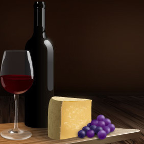 Wines And Cheeses Catalog - vector #214171 gratis