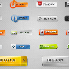 Free Download Buttons 2 - vector gratuit #214181