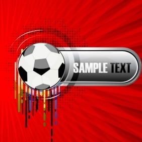 Abstract Vector Background With Football - Free vector #214211