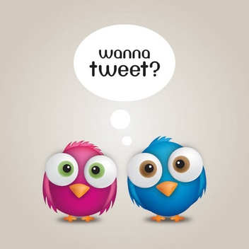 Wanna Tweet - vector gratuit #214261