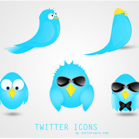Vector Twitter Icons - Free vector #214301