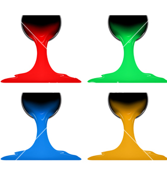 Free colorful paint canned vector - vector gratuit #214321