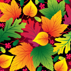 Colorful Leaf Background - Kostenloses vector #214331