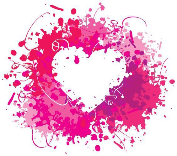 Splashed Heart - Free vector #214351