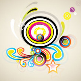 Retro Swirls Vector In Clear Design - vector gratuit #214571