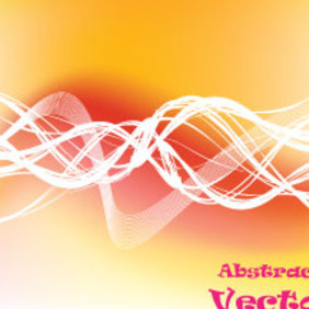 Yellow To Orange Abstract Vector - Kostenloses vector #214601