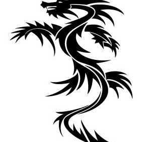Dragon Vector 4 - vector gratuit #214621