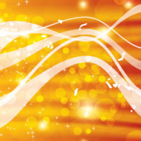 Bubbles And Lines In Golden Background - vector gratuit #214721