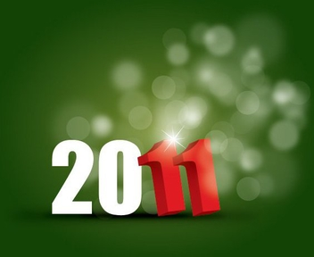 New Year 2011 - vector gratuit #214841