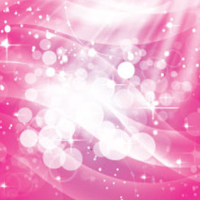 Pink Shinning Stars With White Bubbles - vector #214941 gratis