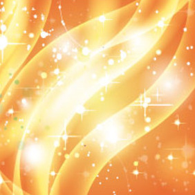 Golden Shinning Light In Orange Vector - vector gratuit #214951