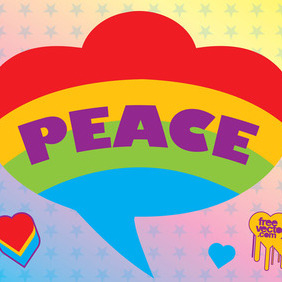 Peace Graphics - vector gratuit #214971