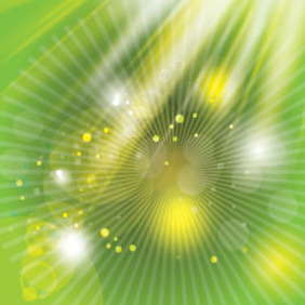 Green Background With Yellow Light Free Vector - vector gratuit #215021