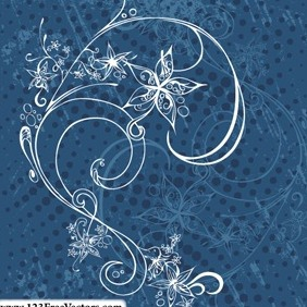 Decorative Floral Vector - vector #215131 gratis