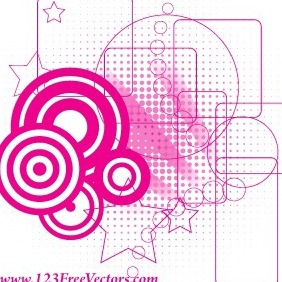 Retro Pink Background Vector - vector #215191 gratis