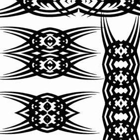Tribal Tattoo Vector Elements - Free vector #215211