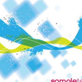Blue Abstract Squars Free Vector Graphic - Free vector #215251
