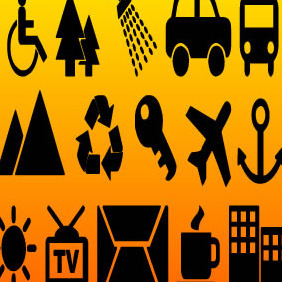 VArious Icons Vectors - Free vector #215271