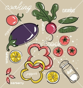 Free vegetable vector - Kostenloses vector #215511