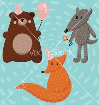 Free forest animals vector - vector #215591 gratis
