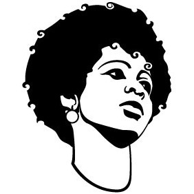 Black Girl Vector - vector gratuit #215811
