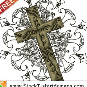 Free Vector T-shirt Design With Cross - Free vector #215851