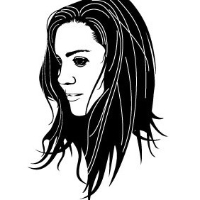 Beautiful Girl Face Vector - vector gratuit #215891