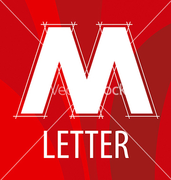 Free logo the letter m in the form of a drawing vector - бесплатный vector #215901