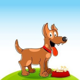 Happy Dog - vector gratuit #215971