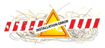 Installation Error - Free vector #216091