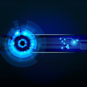 Technology Background - vector gratuit #216171